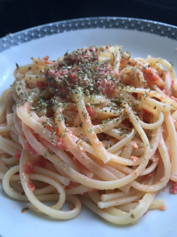 Spaghetti with pesto from Trapani