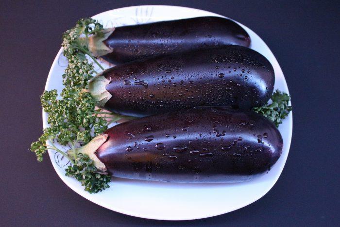 Roulés d'aubergine