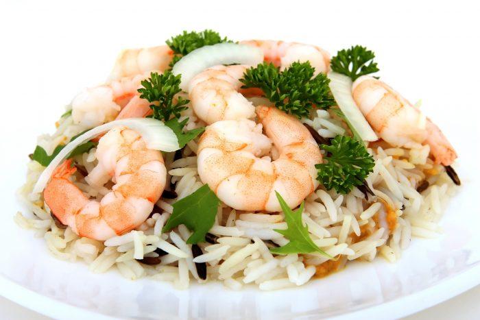 Risotto aux crevettes et aux courgettes