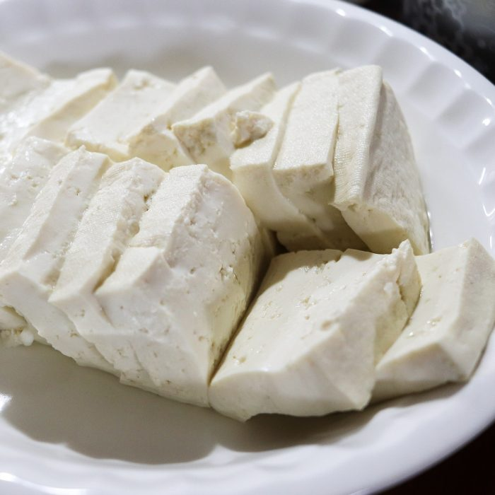 Tofu with cauliflower